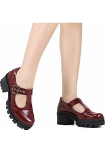 Sapato Dakota Tratorado Verniz Open Boot