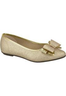 Sapato Infantil Molekinha Glitter Feminino - Feminino-Dourado