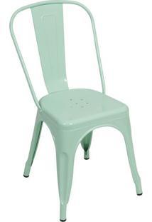 Cadeira De Jantar Retrô- Verde Água- 86X36X35,5Cm