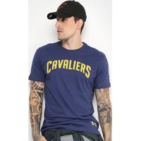 Camiseta Nba Cleveland Cavaliers New Era Game Piece Masculina - Masculino -Marinho 3940887ead2
