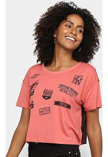 Camiseta Triton Logos Feminina - Feminino-Colorido