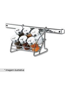 Porta Condimentos Top Pratic- Incolor & Prateado- 7Pbrinox