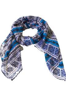 Echarpe Mozzi Arabescos Azul