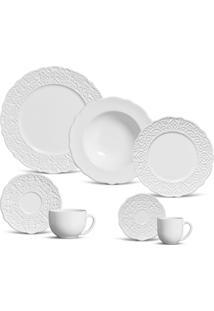 Aparelho De Jantar 42 Peças Marrakech - Unissex-Branco