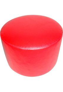 Puff Redondo Junior Corino Vermelho