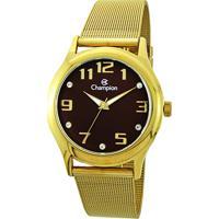 0fa386f7176 Relógio Champion Analógico Cn29007R Feminino - Feminino-Dourado