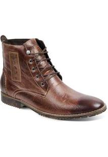 Bota Dress Boot Masculina Sandro Moscoloni Prime Marrom Brown Fossil