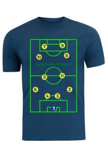 Camiseta Adams - Masculina - Azul Escuro - Quadrado - Azul Escuro ad60e154257