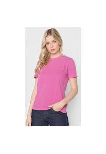 Camiseta Calvin Klein Jeans Logo Roxa