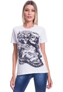 Camiseta Jazz Brasil King Queen Branco