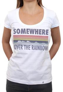 I`M Somewhere Over The Rainbow - Camiseta Clássica Feminina