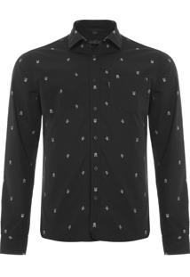 Camisa Masculina William - Preto