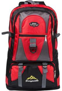 00c37b5c269 Mochila Sport Mountain- Vermelha   Preta- 67X38X17Cmswiss Move