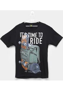 Camiseta Infantil Lemon Skate Masculina - Masculino-Preto