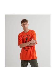 Camiseta Com Estampa Rosa | Blue Steel | Laranja | Pp