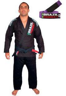 Kimonojiu Jitsu Brazil Combat Xtra-Lite Com Faixa Roxa - Unissex