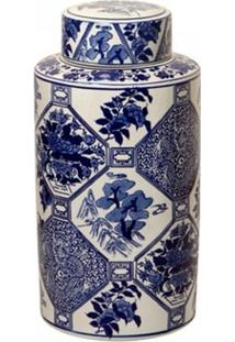 Vaso Decorativo De Porcelana Floral - Unissex