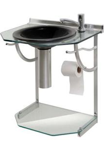 Gabinete Cris Glass Onix 55X43X62,5Cm Transparente Cris-Metal