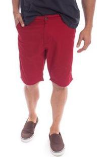 Bermuda Sarja Aleatory Flash Masculina - Masculino-Vermelho