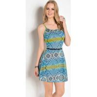 09bb9ea42 Vestido Azul Etnico feminino | Shoes4you