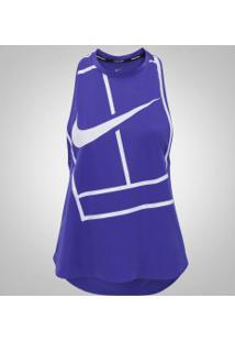 Camiseta Regata Nike Court Tank Baseline - Feminina - Azul 31e2064adef49
