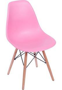 Cadeira Eames Dkr- Rosa & Madeira- 80,5X46,5X42Cm
