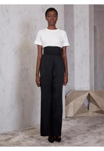 Camiseta Atelier Le Lis Akiko Malha Feminina (Off White, M)