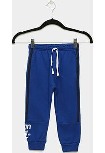 Calça Moletom Infantil Gangster Masculina - Masculino-Azul