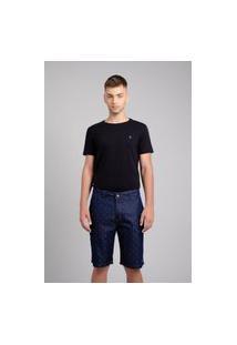Bermuda Porto & Co Jeans Slim Azul
