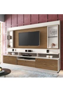 Estante Home Para Tv Até 58 Polegadas Antares Edn Móveis Off White/Naturale