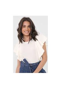Camiseta Mob Babados Off-White