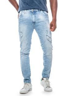 Calça Jeans Dialogo Skinny Com Rasgos