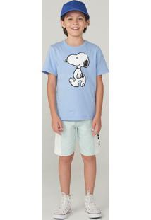 Conjunto Infantil Snoopy Moletom Menino Com Estampa