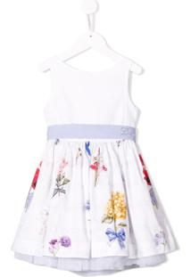 Lapin House Vestido Com Estampa Floral - Branco