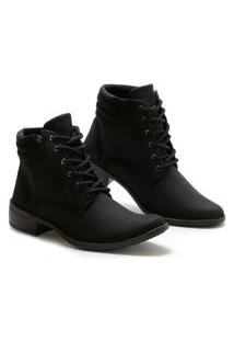 Bota Casual Cano Curto Option Shoes Feminina Preto