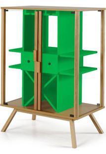 Cristaleira Mystic Cor Natural Com Verde - 29110 - Sun House