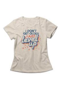 Camiseta Feminina Level Up Bege