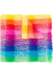 Faliero Sarti Cachecol Rainbow Xadrez De Tricô - Rosa