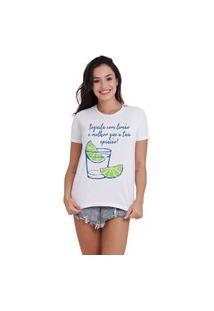 Camiseta Jay Jay Basica Tequila Com Limao Branca Dtg