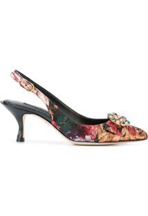 Dolce & Gabbana Sapato Floral Com Aplicações - Estampado