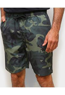 Bermuda Água Hurley Phantom Koi Sz Wailehua Masculina - Masculino-Verde Militar