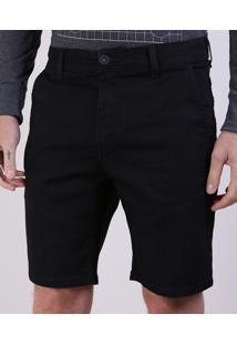Bermuda Jeans Slim Masculina Com Recorte Na Barra Black Jeans
