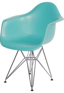 Cadeira Eames Com Braco Base Cromada Tiffanny Fosco - 43636 - Sun House