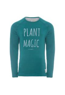 Casaco Masculino Raglan Plant Magic - Verde