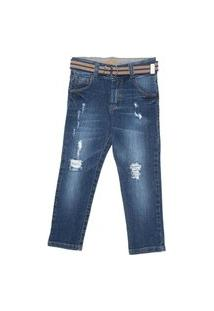Calça Infantil Menino Mania Kids Jeans