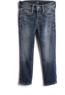 Calça Jeans Gap Infantil Estonada Azul