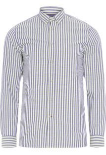 Camisa Masculina Multi Gingham - Azul