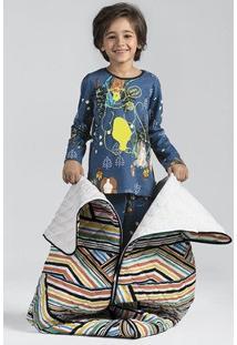 Pijama Infantil Menino Estampado Em Manga Longa Que Brilha No Escuro Puc [] []