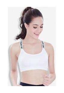 Sutiã Cropped Com Bojo Sport - Branco