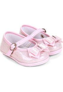 Sapato Infantil Pimpolho Glitter Feminino - Feminino-Rosa